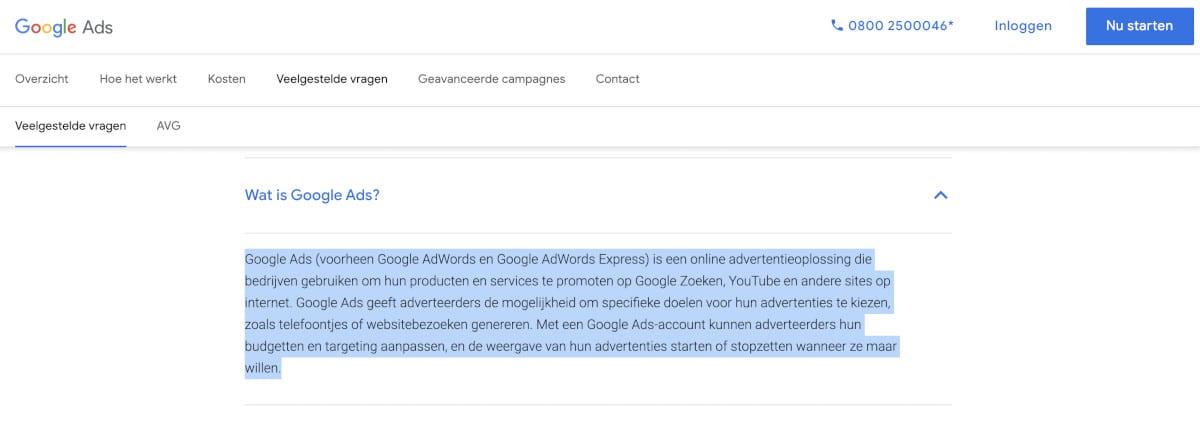Wat zijn Google Advertenties